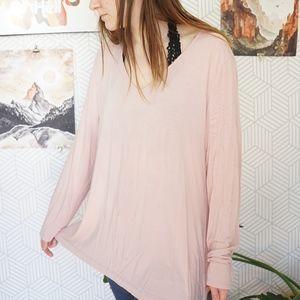 Soma Pink v-neck comfy long sleeve shirt